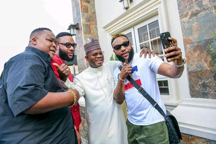 Yahaya Bello Emoney, Kcee, Cubana Chief Priest and Kcee wife Ijeoma