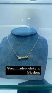 Davido gifts daughter, Imade a customized jewelry worth millions of naira