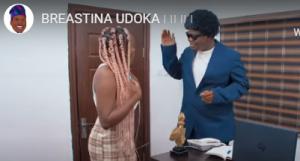 Comedian, Mr Macaroni teases Breastina Udoka