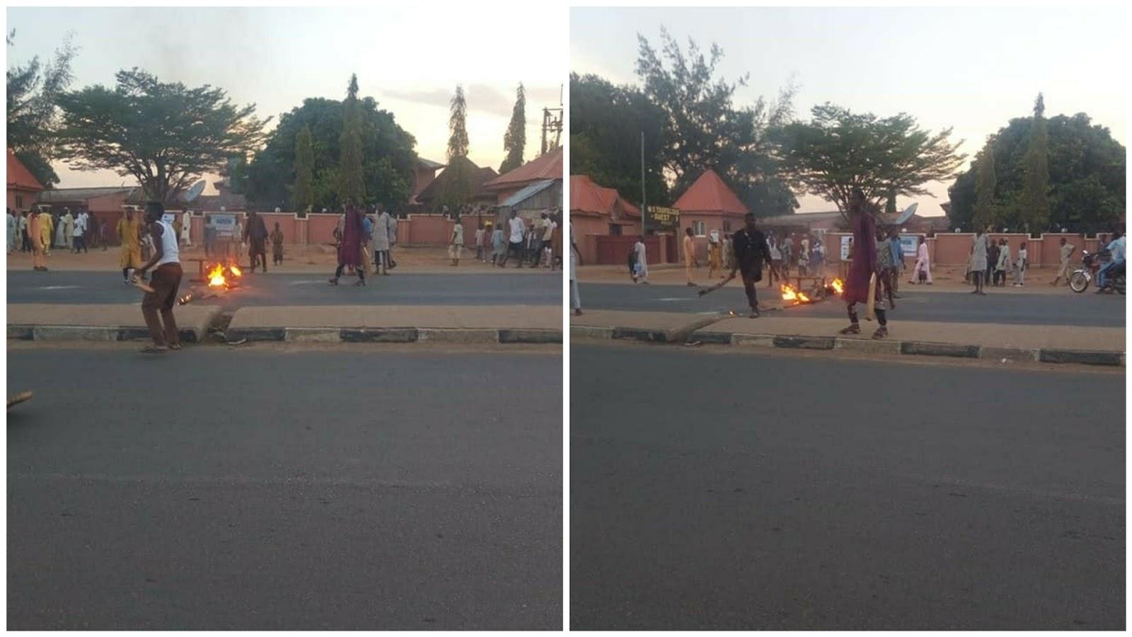 Soldiers in Aebasu Road, Gusau, Zamfara state
